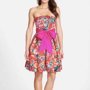NWT Eliza J Red floral dress 6
